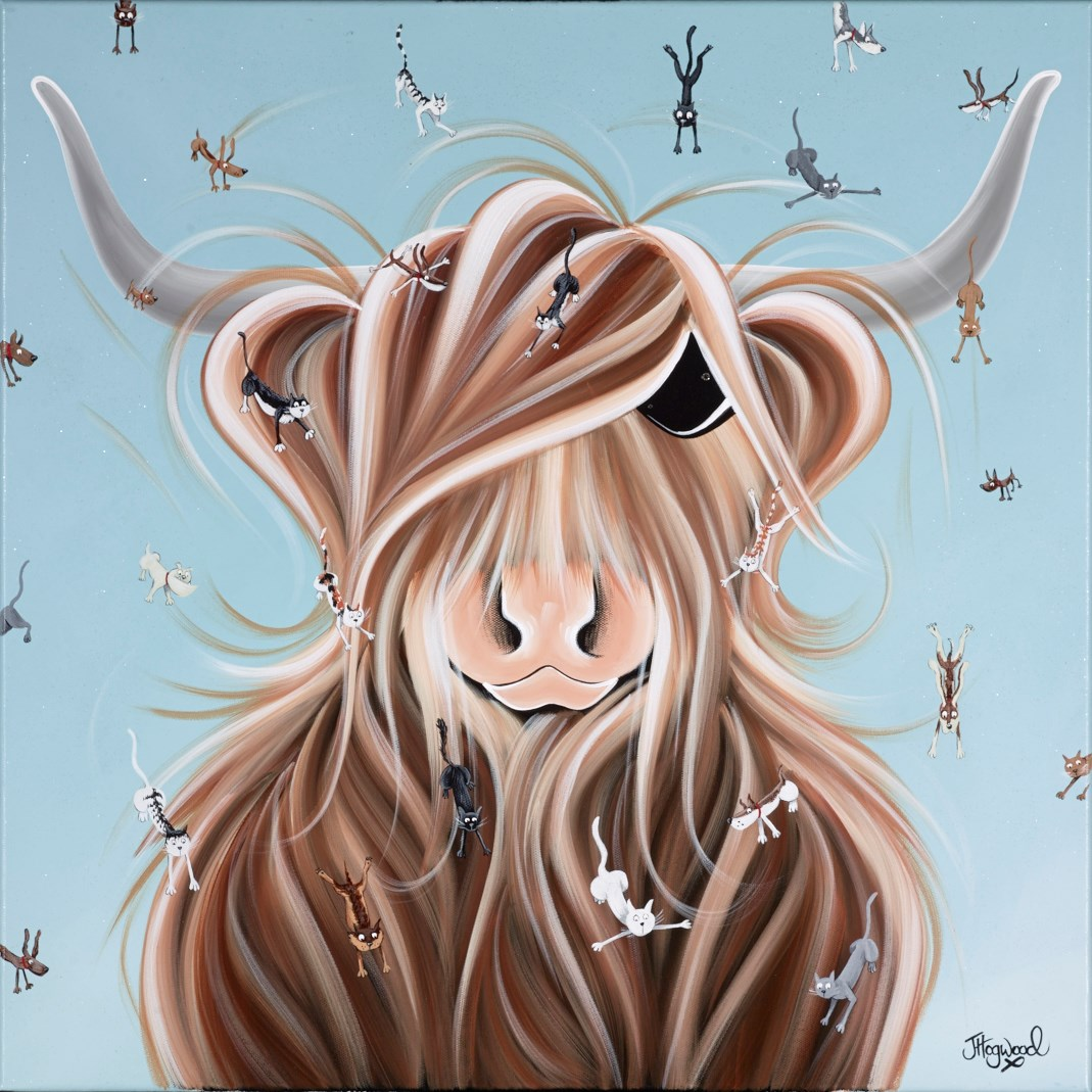 Cats and Dogs by jennifer hogwood -  sized 24x24 inches. Available from Whitewall Galleries